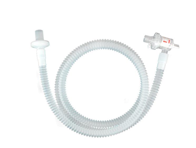Circuito de traslado con válvula PEEP y puerto de supervisión